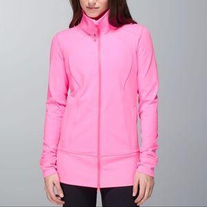 Lululemon zing pink asana jacket size 6 🍋